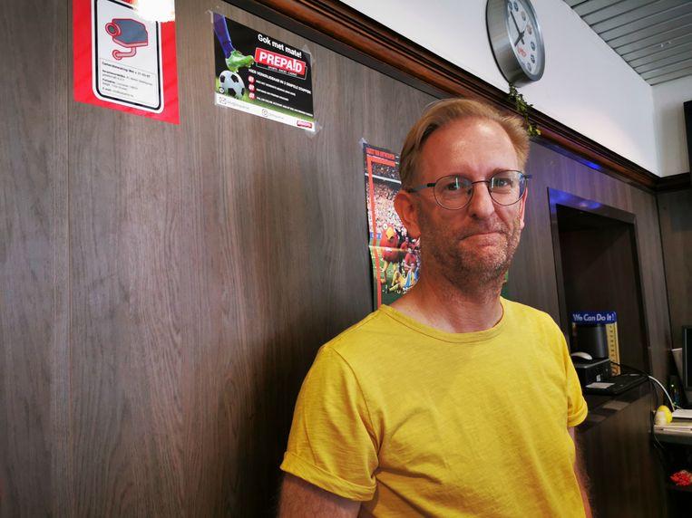 Erik Pelemans van krantenwinkel 't Krantje kreeg woensdag een vreemde snuiter over de vloer.
