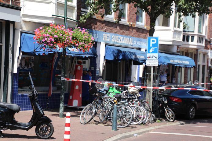 De politie heeft een gedeelte van de Weimarstrraat afgezet