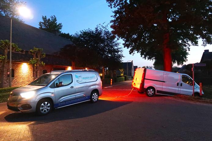 Ongeval op de Papendijk in Geffen.