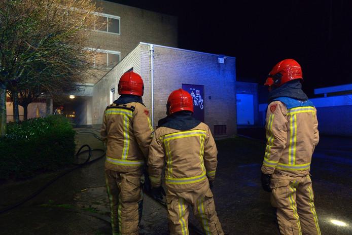 Appartementencomplex in Bladel ontruimd bij brand in de kelder.
