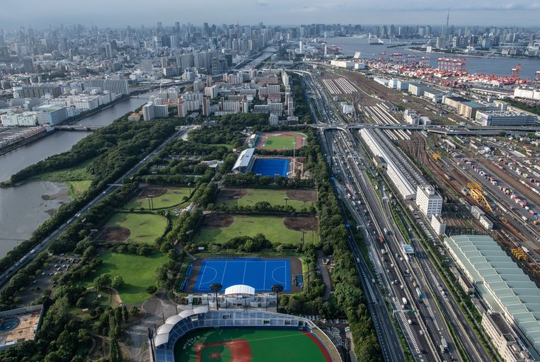 De olympische hockeyvelden. Beeld Getty