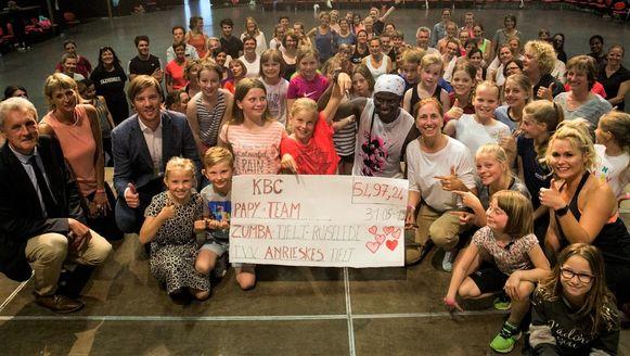 De Zumba-avond in de Europahal bracht 5.497,24 euro op voor het goede doel