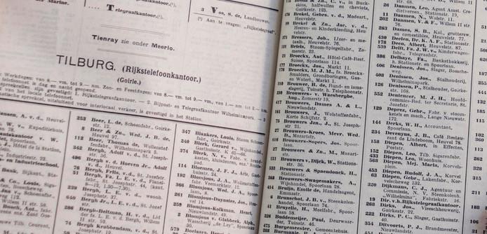 Telefoonboek uit 1915.