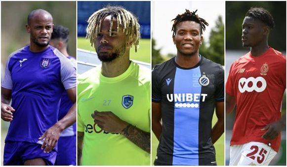Van l naar r: Kompany, Bongonda, Okereke en Limbombe.