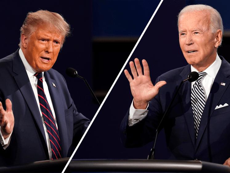 Debat tussen Trump en Biden loopt compleet uit de hand