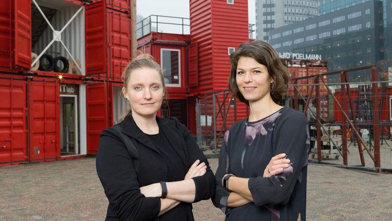 Saskia Oranje en Karin Dorrepaal van Door architecten. Beeld Ivo van der Bent
