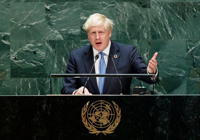 De Britse premier Boris Johnson op de VN-top in New York. Nu de debatten in het Brits parlement weer worden hervat, is de grote vraag welke stappen de oppositie wil nemen tegen de premier.