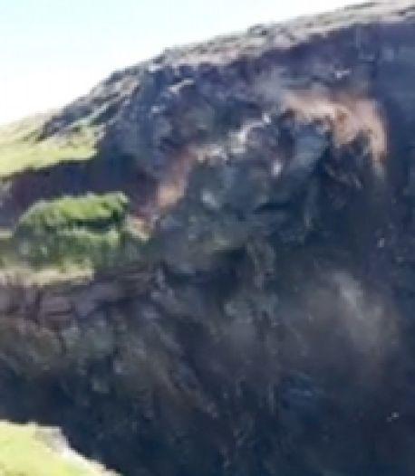 Des randonneurs échappent de peu à l'effondrement d'une falaise