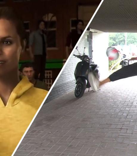 Amsterdamse Rocky is eerste vrouw in straatvoetbalgame FIFA