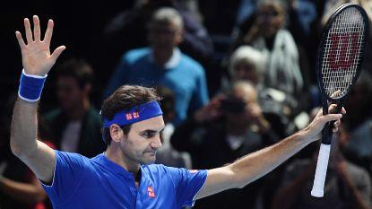 Federer blijft in race ATP Finals na zege tegen Thiem - Anderson maakt brandhout van Nishikori