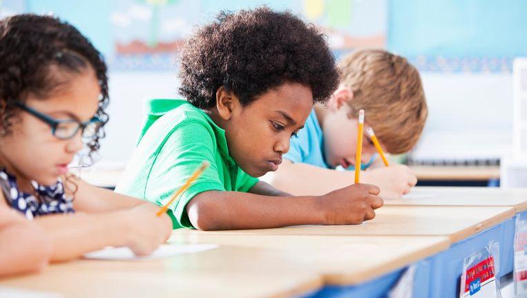 Kinderen worden hun hele schooltijd getest. De spanning die dat met zich meebrengt, kan belemmerend werken Beeld Getty Images