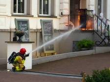 Terrasverwarmer van hotel in Helmond vliegt in brand