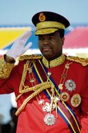 Koning Mswati III, de absolute heerser van Swaziland, volgde in 1986 zijn vader Sobhuza II op.