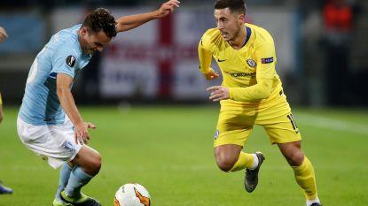 Invaller Hazard en Chelsea winnen met 1-2 in Malmö