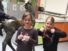 Robine en Renske tóch nog beloond voor vinden bronzen paard
