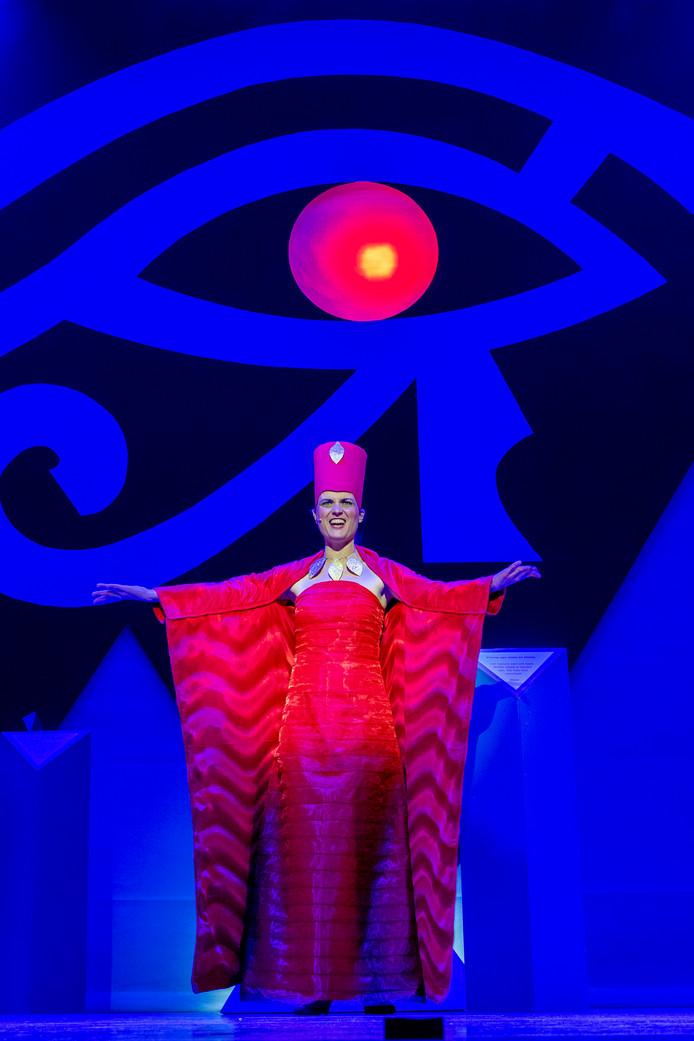 Tijdens de generale repetitie van Aida.