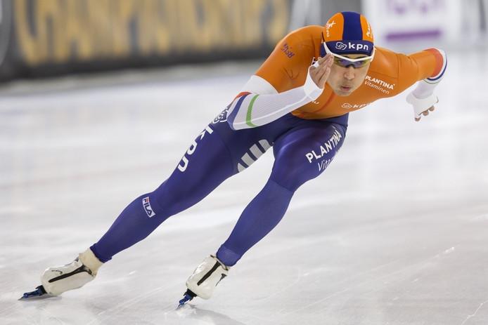 IJsstadion Thialf, 06-01-2017, 500m heren sprint, Kai Verbij