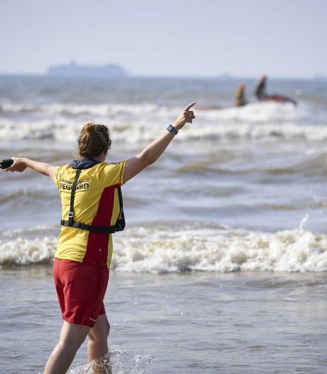 Hulpdiensten druk met watersporters in nood door harde wind aan zee