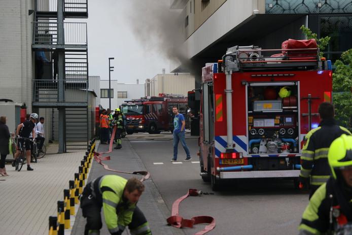 Brand bij Synthon in Nijmegen.