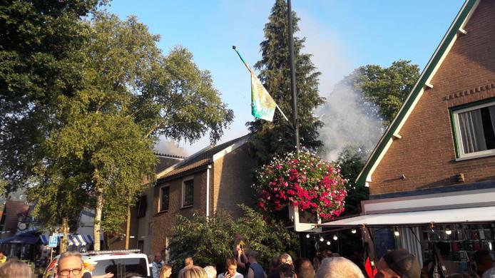 Brand het pand van het Leger des Heils aan de Dorpstraat in Beekbergen.