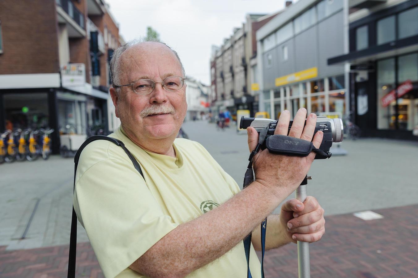 Frans Rientjes, stadsfilmer sinds 1969.