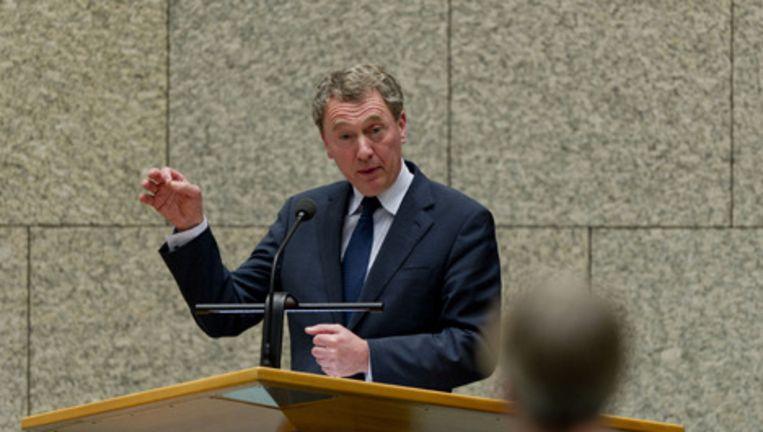 CDA-Tweede Kamerlid Henk Jan Ormel dinsdag tijdens het Kamerdebat over de mislukte evacuatie. Foto ANP Beeld