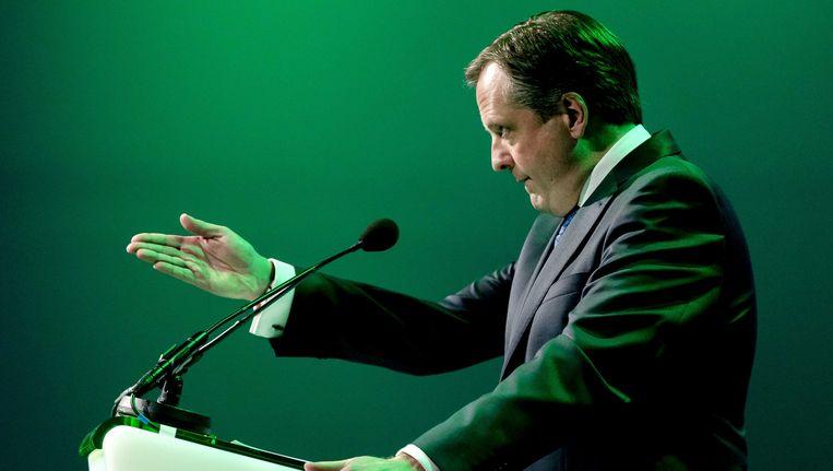 D66-voorman Alexander Pechtold, hier tijdens het partijcongres vorige maand. Beeld ANP