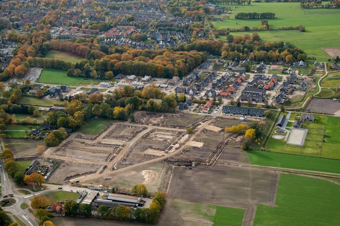 In Nunspeet wordt momenteel druk gewerkt aan de bouw van woonwijk Molenbeek.