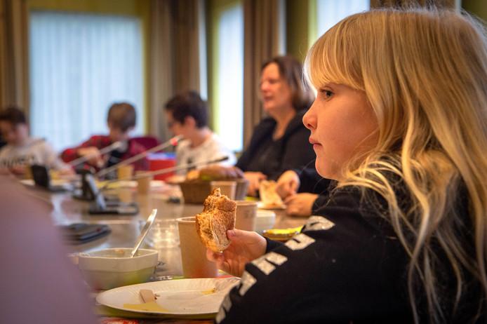 Ontbijt in het gemeentehuis van Beuningen.
