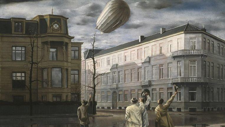 De zeppelin door de Nederlandse schilder Carel Willink. Beeld Museum MORE