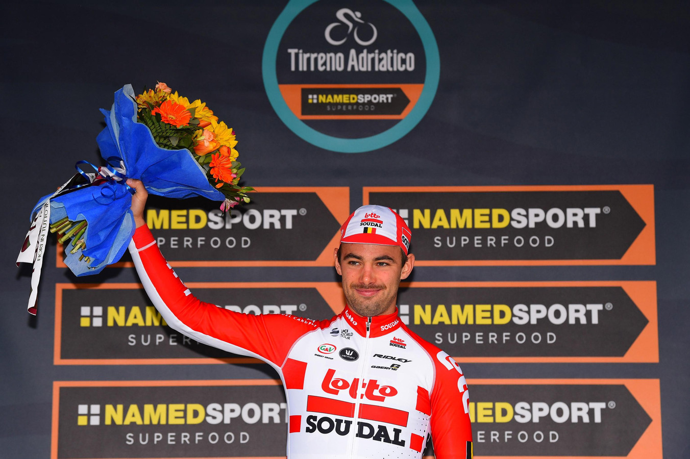 Campenaerts won eerder dit jaar de tijdrit in de Tirreno-Adriatico.