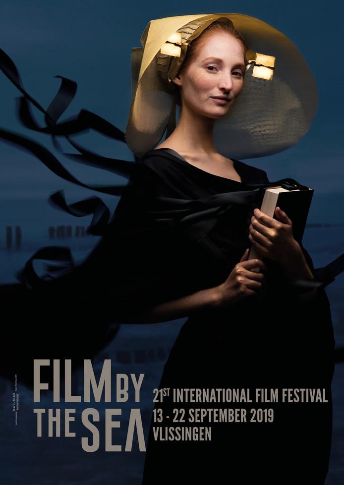 Affiche voor Film by the Sea 2019, ontworpen door Paulina Matusiak.