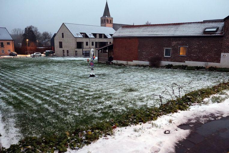 De sneeuw in Holsbeek.
