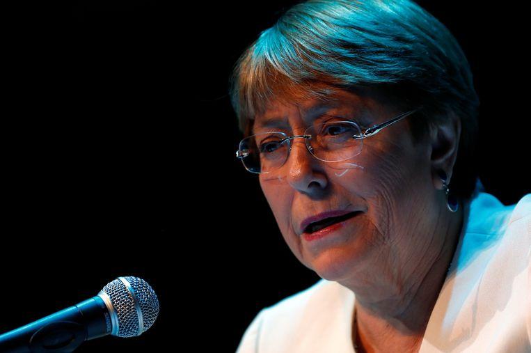 Michelle Bachelet, de Hoge Commissaris van de VN voor de mensenrechten.