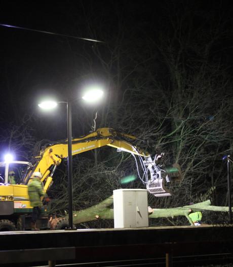 Reparatie aan bovenleiding bij Tiel, nog geen treinen richting Utrecht