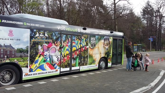 Toeristen laten de Veluwe Express massaal links liggen.