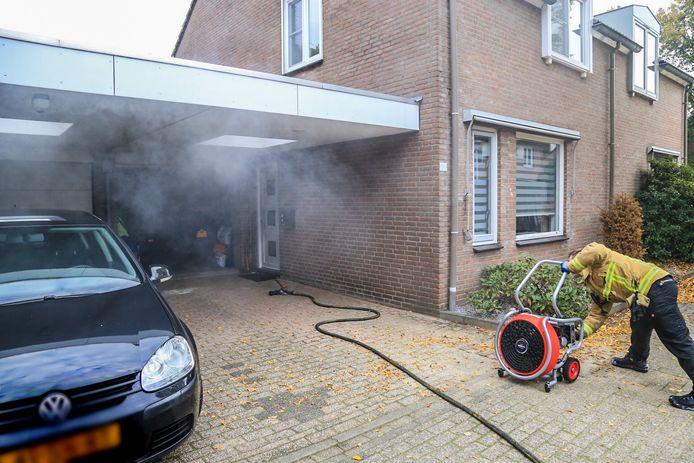 Brand in garage Helmond.