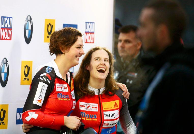 Sabina Hafner (rechts) is in Pyeongchang aan haar derde Winterspelen toe.