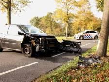 Auto rijdt tegen boom op Dongenseweg in Rijen, bestuurder gewond