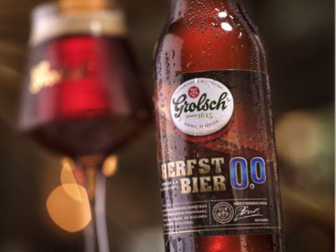 Het Herfstbier 0.0% is een alcoholvrij alternatief voor Bokbier van Grolsch.