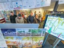 Met het hele gezin naar het stemlokaal voor marktpleinontwerp in Apeldoorn