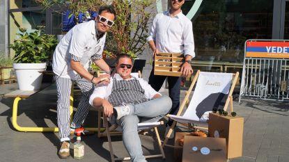 Drie ondernemers bieden samen Vaderbox aan met ontbijt, scheerbeurt en bril
