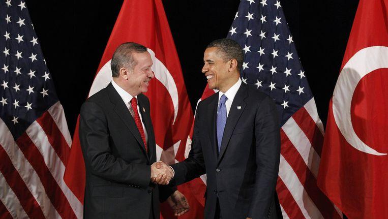 President Obama en de Turkse premier Erdogan. Beeld ap