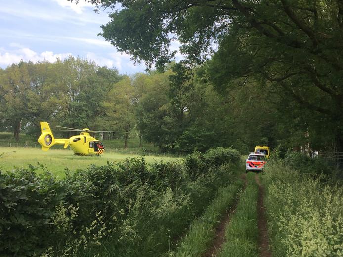 De traumahelikopter in Heumen.