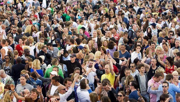 Publiek bij dance-festival Dance Valley in Spaarnwoude Beeld anp