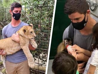 Vertederende beelden: Thibaut Courtois en kindjes Adriana (5) en Nicolás (3) tonen hart voor dieren