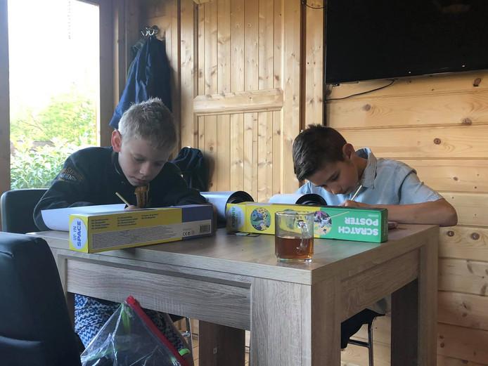 Jelle (10) en Mels (8) van der Doelen uit Rosmalen gaan de uitdaging aan om in de meivakantie twee weken lang niet te gamen.