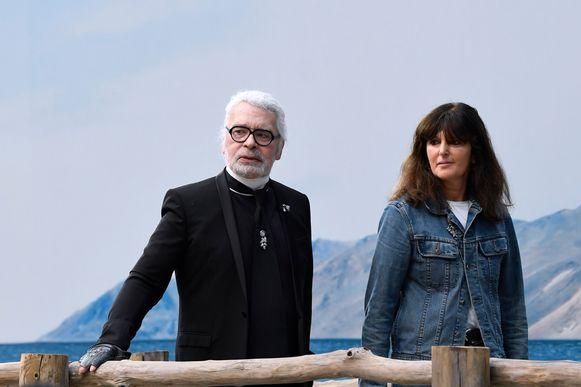 Karl Lagerfeld en Virginie Viard.