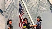 Vermiste iconische 9/11-vlag duikt 5.000 km verder op