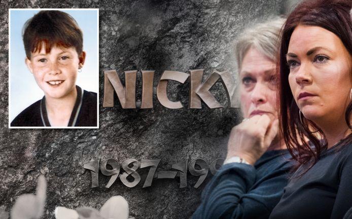 Nicky Verstappen (links) als jongen van elf. Rechts: zijn moeder en zus tijdens één van de voorbereidende zittingen tegen Jos Brech.